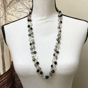 """Premier Designs """"Opulence"""" Silver Plated Beaded"""